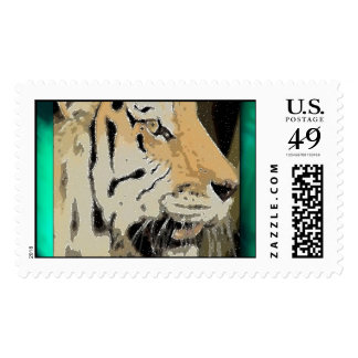 Magical Tiger Postage Stamp