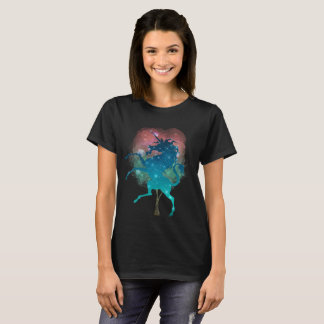 Magical tree and unicorn womens t-shirt