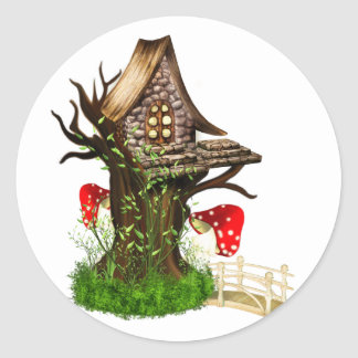 Magical Tree House Round Stickers