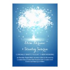 Magical tree, sparkling lights blue wedding 5