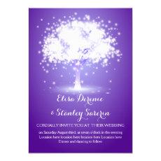 Magical tree, sparkling lights purple wedding 5