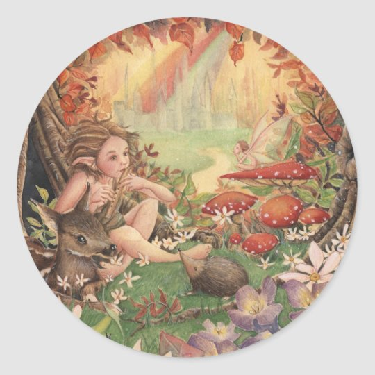 Magical Tunes Classic Round Sticker