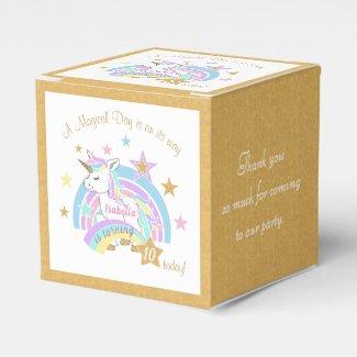 Magical Unicorn 00th Birthday Favor Box
