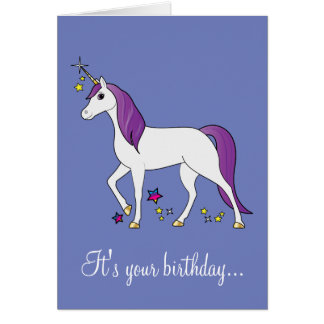 unicorn birthday cards  zazzle, Birthday card