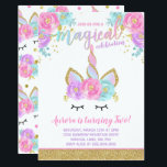 "Magical Unicorn Birthday Invitation Unicorn Party<br><div class=""desc"">Magical Unicorn Birthday Invitation