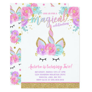 Save On Unicorn Invitations Limited Time Only Zazzle Jpg 307x307 Magical Party City