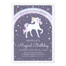 Magical Unicorn Birthday Invite