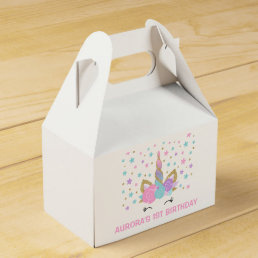 Magical Unicorn Birthday Party Favor Box