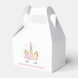 Magical Unicorn Birthday Party Favor Box. Favor Box