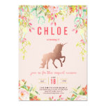 Magical Unicorn Birthday Party Invitation at Zazzle