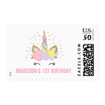Magical Unicorn Birthday Party Postage Stamp