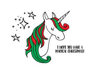 magical unicorn christmas holiday card - Christmas Unicorn