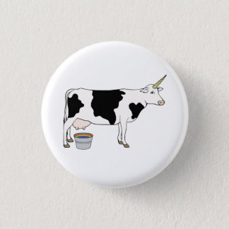 Magical Unicorn Dairy Milk Cow Pinback Button