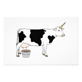 Magical Unicorn Dairy Milk Cow Stationery
