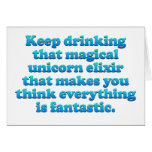 Magical Unicorn Elixir Card