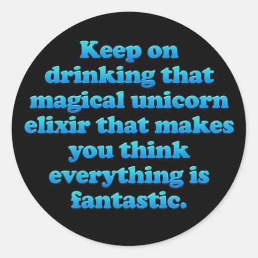Magical Unicorn Elixir Stickers