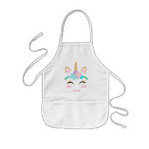 Magical Unicorn 🦄 Face Kids' Apron