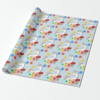 Magical Unicorn Fantasy Wrapping Paper