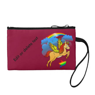 Magical Unicorn Flying Through The Air Coin Wallet