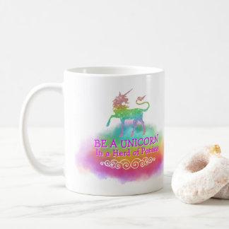 Magical Unicorn Girly Pastel Rainbow Colors Quote Coffee Mug