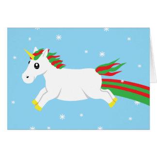 Magical Unicorn Holiday Christmas Card