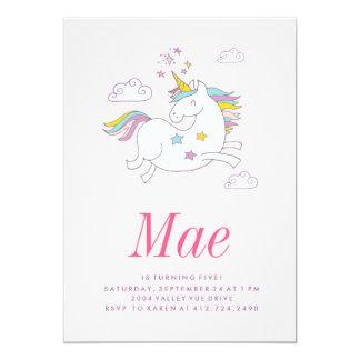 MAGICAL UNICORN KIDS BIRTHDAY INVITATION invite