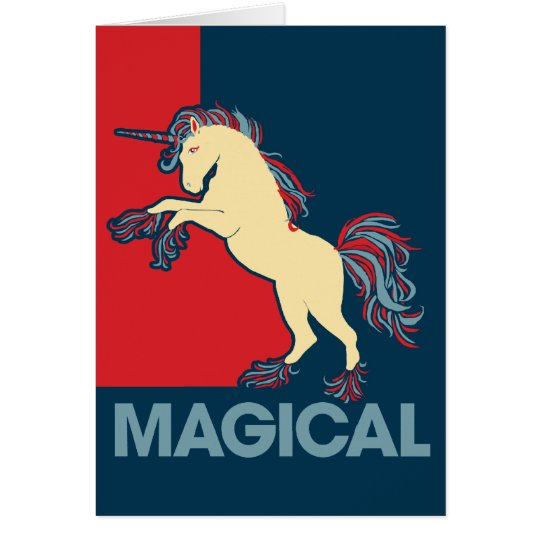 Magical Unicorn Logo Parody Card