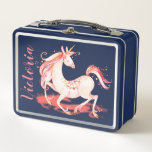 "Magical Unicorn Lunch box<br><div class=""desc"">Magical Unicorn Lunch box with room for your name. Easy to change background color</div>"