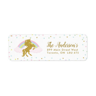 Magical Unicorn Return Address Labels