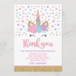 "Magical Unicorn Thank You Card Unicorn Party<br><div class=""desc"">Magical Unicorn Thank You Card 
