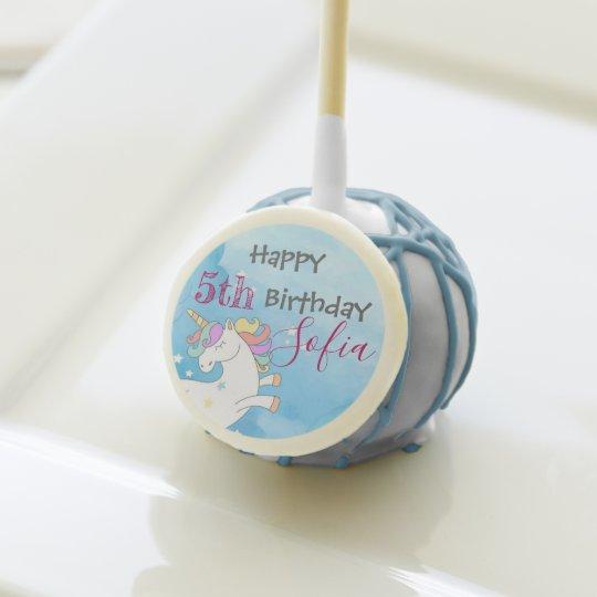Magical Unicorn Themed Birthday Cake Pop