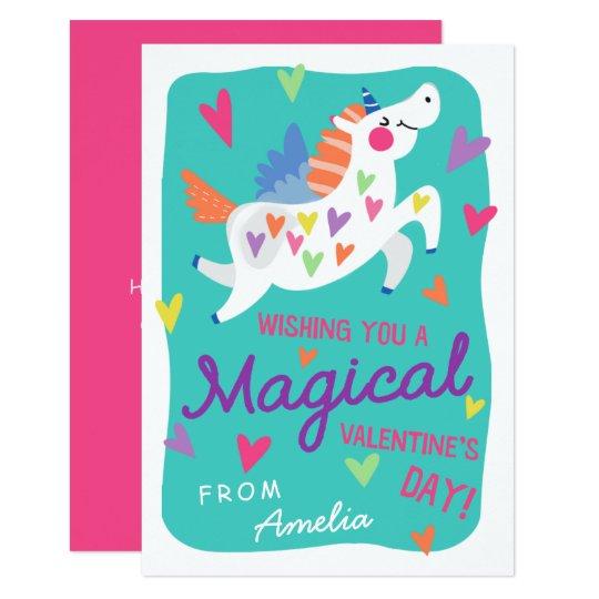 Magical Unicorn Valentine S Day Card Zazzle Com