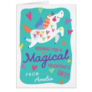Magical Unicorn Valentine's Day Greeting Card