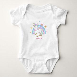 Magical Unicorn with Rainbow Baby Bodysuit