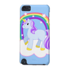 Magical Unicorn With Rainbow Ipod Touch Case at Zazzle