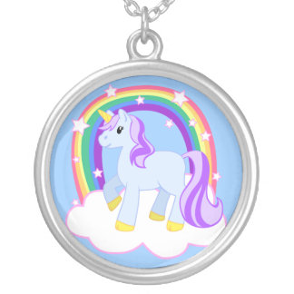 Magical Unicorn with Rainbow Necklace