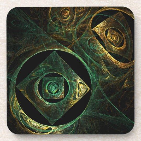 Magical Vibrations Abstract Art Cork Coaster