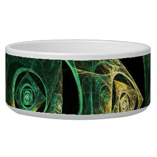 Magical Vibrations Abstract Art Dog Bowl