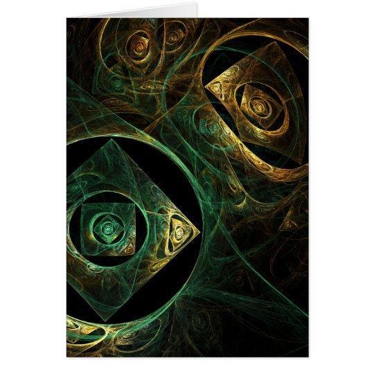 Magical Vibrations Abstract Art Greeting Card