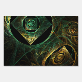 Magical Vibrations Abstract Art Lawn Sign