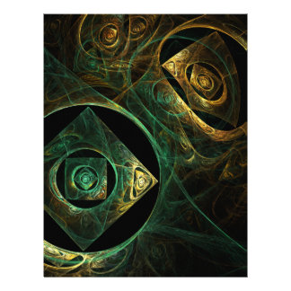 Magical Vibrations Abstract Art Letterhead