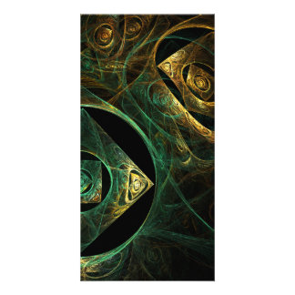 Magical Vibrations Abstract Art Photo Card