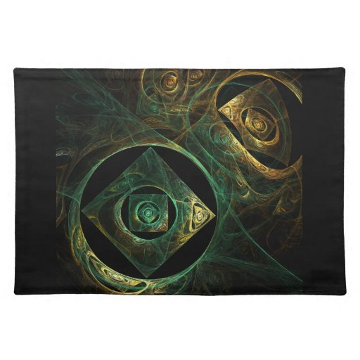 Magical Vibrations Abstract Art Placemat