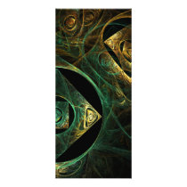 abstract, art, fine art, modern, artistic, cool, pattern, Rack Card with custom graphic design