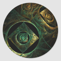 magical, vibrations, abstract, art, round, sticker, Sticker with custom graphic design
