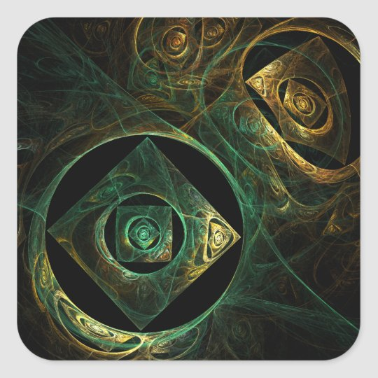 Magical Vibrations Abstract Art Square Sticker