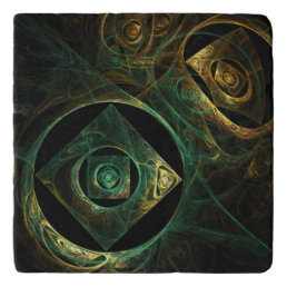 Magical Vibrations Abstract Art Stone Trivet