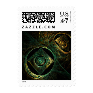 Magical Vibrations Abstract Postage Stamp