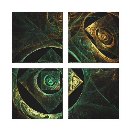 Magical Vibrations Abstract Quad Canvas Print