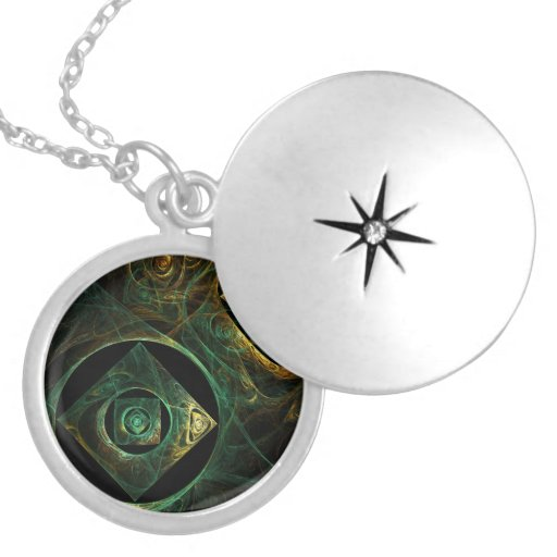Magical Vibrations Abstract Silver Locket